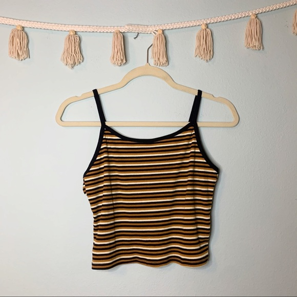 Striped Ribbed 90's Vibe Tank Top!